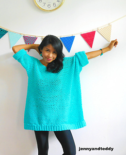Ravelry Knit Look Oversize Crochet Sweater Pattern By Jennyandteddy