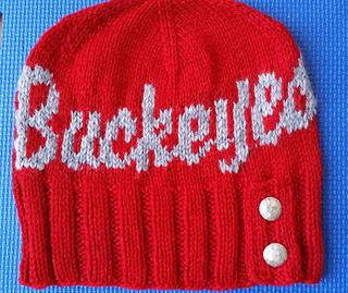 a4236693889 Ravelry  Ohio State Button Beanie Kit pattern by Melanie Cross