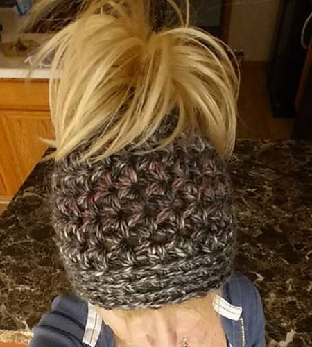 Ravelry Chunky Messy Bun Hat Pattern By Mary Wright