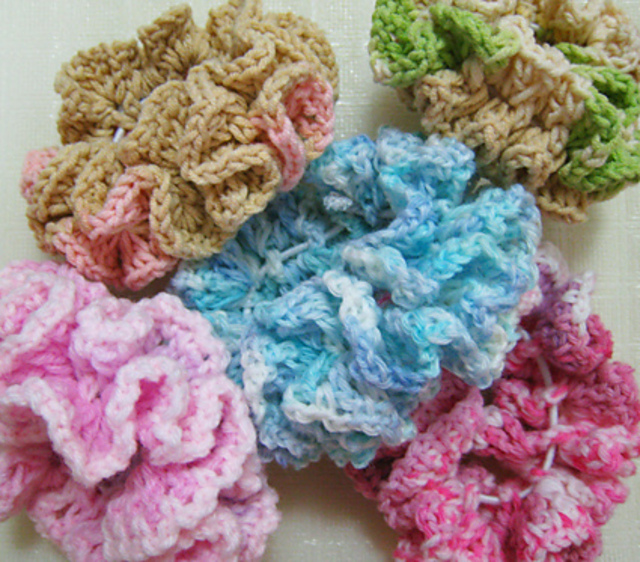 Ravelry Double Ruffle Crochet Scrunchie Pattern By Goh Hui Lian