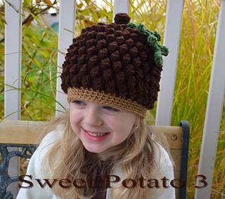 9fb404453b2 Ravelry  Acorn or Pinecone Hat pattern by Sweet Potato 3