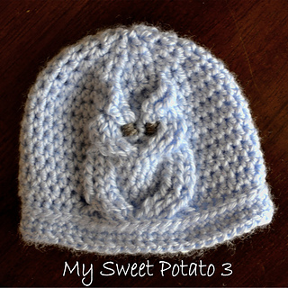 Ravelry Cable Owl Hat Pattern By Sweet Potato 3