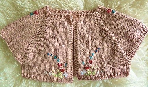 Ravelry Quick Knit Baby Shrug Pattern By Natalie Haban