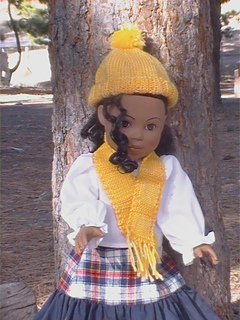 Ravelry 002 18 Doll Ribbed Cuff Hat With Matching Scarf Pattern By