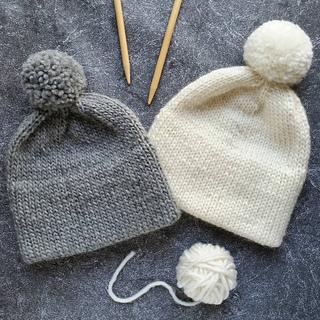 57525e38d42e54 Ravelry: Double Brim Hat, Knit Hat, Pom Pom Hat pattern by Natalya1905