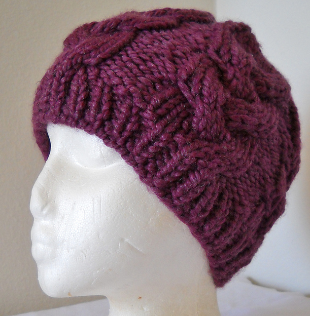 eabc2997aed Ravelry  Back Woods Cable Knit Hat pattern by Crystal Lybrink