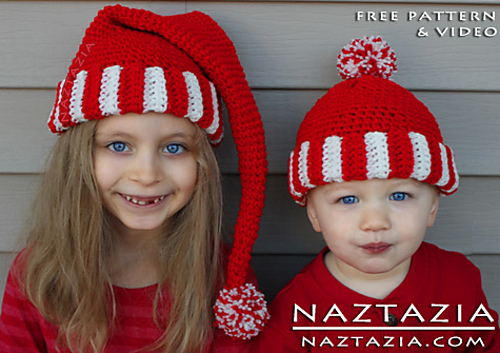 Ravelry Santa Hat Elf Hat Pixie Hat Beanie Hat Pattern By Naztazia