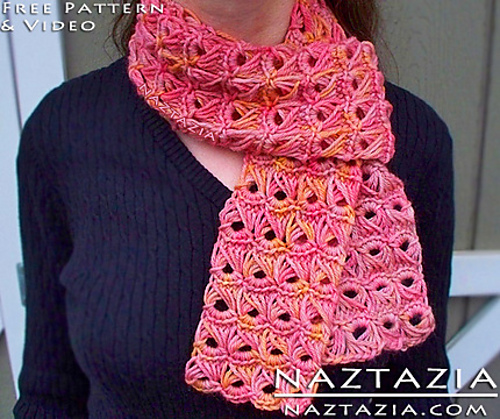 Ravelry: Broomstick Lace Scarf with Help Video pattern by Naztazia