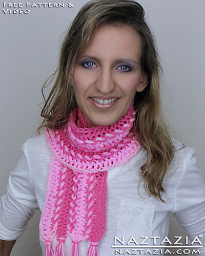 Ravelry: Easy Hairpin Lace Scarf with YouTube Video pattern by Naztazia