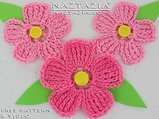 Ravelry Large Petal Crochet Flower Pattern By Naztazia