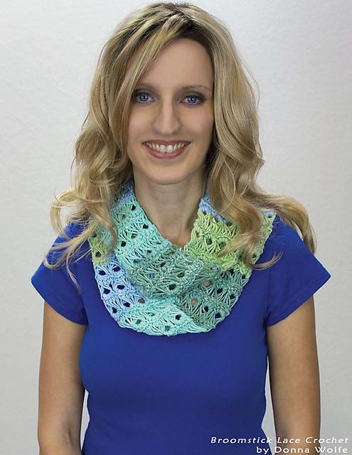 Ravelry Broomstick Lace Infinity Scarf Pattern By Naztazia