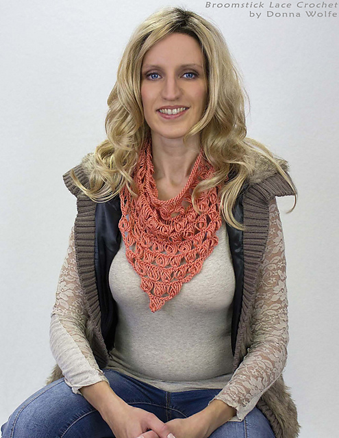 Ravelry Broomstick Lace Triangle Scarf Pattern By Naztazia