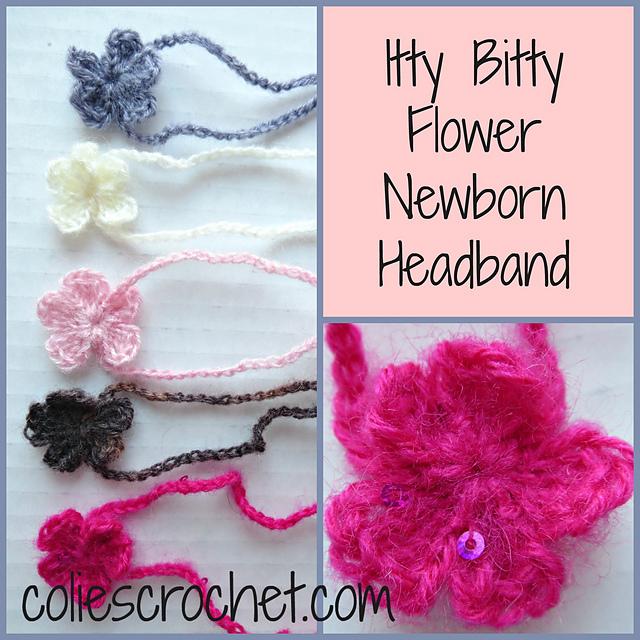 Ravelry Itty Bitty Flower Newborn Headband Pattern By Nicole Bencker