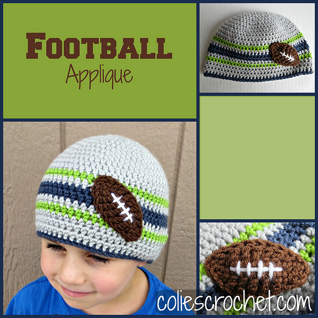 Ravelry Football Applique Pattern By Nicole Bencker