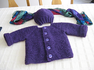 2f711d0de Ravelry  Simple NO-PURL Baby Jacket pattern by KayL Designs