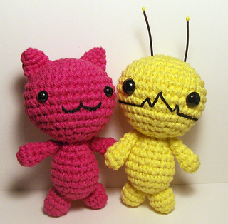 Advanced Amigurumi Shapes : Ravelry: Alien Hominid, Chibi Kawaii Cat, Bunny and Bear ...