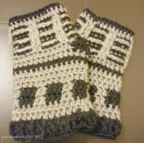 Ravelry Doctor Who Inspired Dalek Fingerless Gloves Pattern By