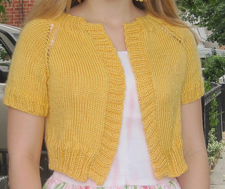 f397beebce64 Ravelry  Cropped Raglan Sweater pattern by Lion Brand Yarn