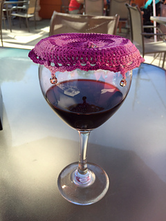 Ravelry Lacy Beaded Wine Glass Cover Pattern By Rhondda