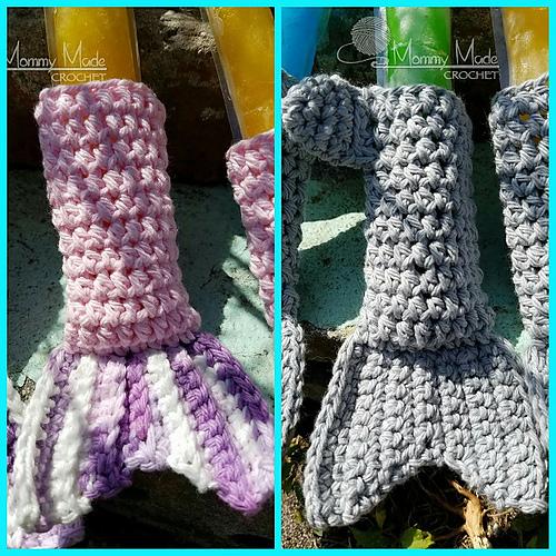 Ravelry: Shark/Mermaid Tail Ice Pop cozy pattern by Anna Wilson
