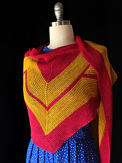 Ravelry: Wonder Woman Wrap (knit) pattern by Carissa Browning