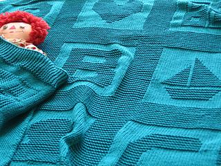 Knit Picky Patterns Baby Blankets : Ravelry: ABC Baby Blanket pattern by Jenny Williams