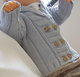 ecf76f45f Ravelry  Baby double breasted ribbed jacket P024 pattern by OGE ...