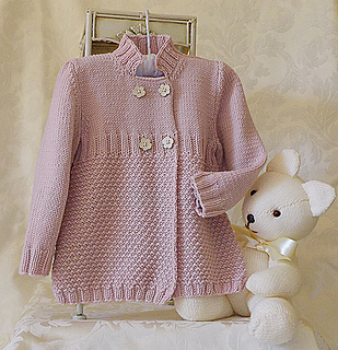 Ravelry Little Girls Double Breasted 3 4 Length Coat P052