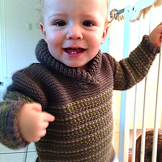 40bdd53c7 Ravelry  Baby sweater with Shawl collar pattern by OGE Knitwear Designs