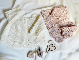 c636ff3dd691f Ravelry  Shell border baby cardigan P097 pattern by OGE Knitwear Designs