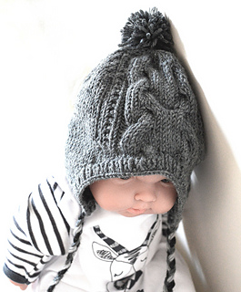 1ed05451a Ravelry  Cable sweater with matching hat pattern by OGE Knitwear Designs