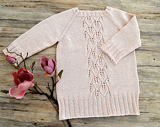 10222beb38fc Ravelry  Amber Top Down Tunic Top - P129 pattern by OGE Knitwear Designs
