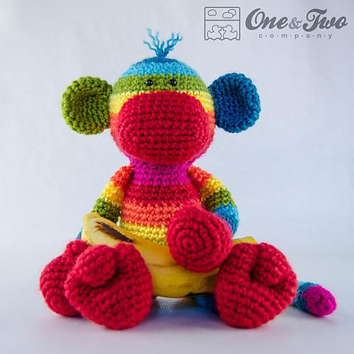 Ravelry Rainbow Sock Monkey Amigurumi Pattern By Carolina Guzman