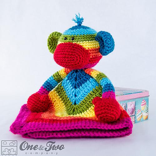 Ravelry Rainbow Sock Monkey Lovey And Amigurumi Set Patterns