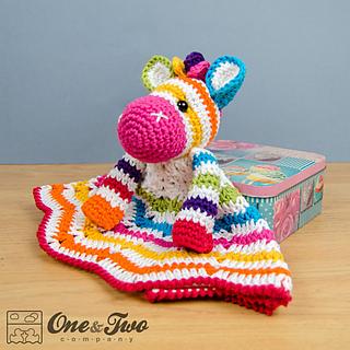 Ravelry Rainbow Zebra Lovey Pattern By Carolina Guzman