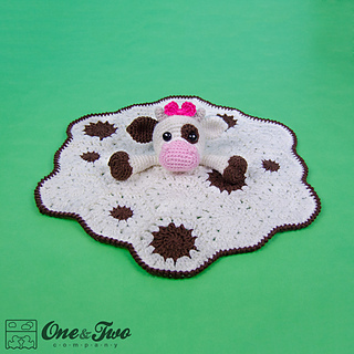 Free Crochet Pattern For Cow Hat : Ravelry: Doris the Cow Lovey pattern by Carolina Guzman