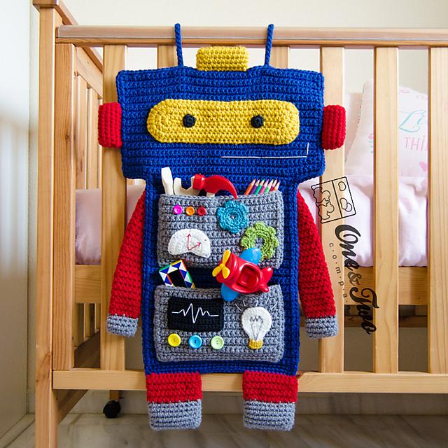 patron de crochet Robot Organizer par Carolina Guzman
