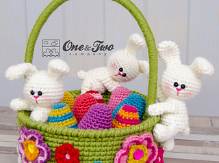 Ravelry little bunnies easter basket pattern by carolina guzman negle Image collections