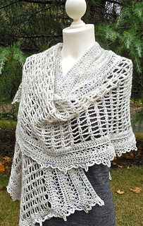 Bleckley Wrap pattern by Janet Brani