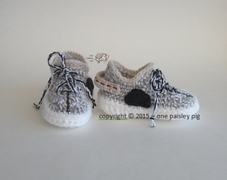 eacb3d2332138d Ravelry  Yeezy Boost 350 Inspired Baby Shoes pattern by Paisley