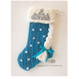 Ravelry: Elsa/Frozen Inspired Stocking pattern by Paisley