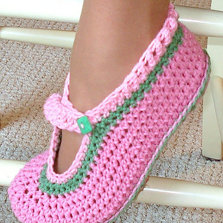 Ravelry Mary Jane Slippers Crochet Pattern For Kids And Adults