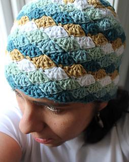 Ravelry  Shell Beanie Cap pattern by Teresa Richardson 0cb45559667