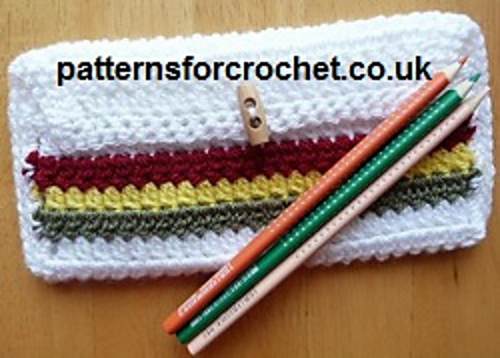 Ravelry Pfc59 Easy Pencil Case Pattern By Patternsfor Designs