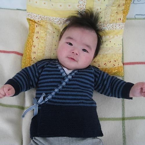 Ravelry Baby Sachiko Kimono Sweater Pattern By Erika Flory