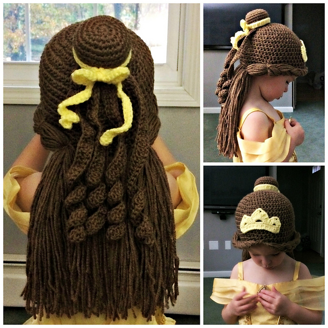 patti07   notebook   projects   Princess Belle wig hat b346d1e53de