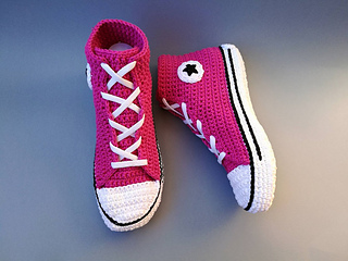 Ravelry  Adult Converse style sneakers pattern by CrochetSneakers d267b6b2ff7b