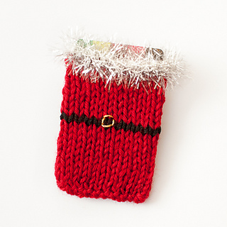 Ravelry: Santa Knit Gift Card Holder pattern by Kara Gunza