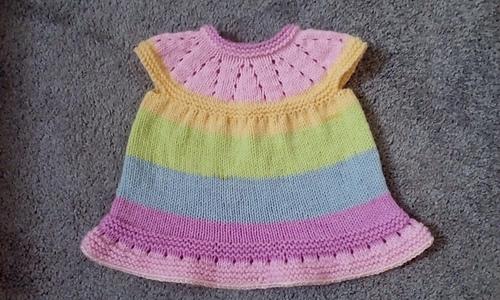 616d3229b2f0 Ravelry  Lazy Daisy All-in-One Baby Dress pattern by marianna mel