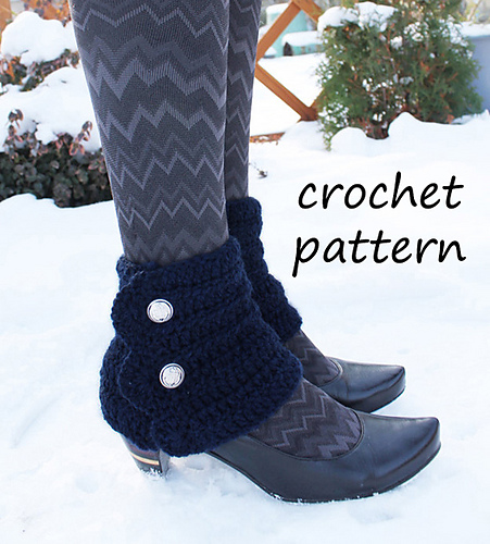 Ravelry: crochet spats pattern by NeedaCraftRoom